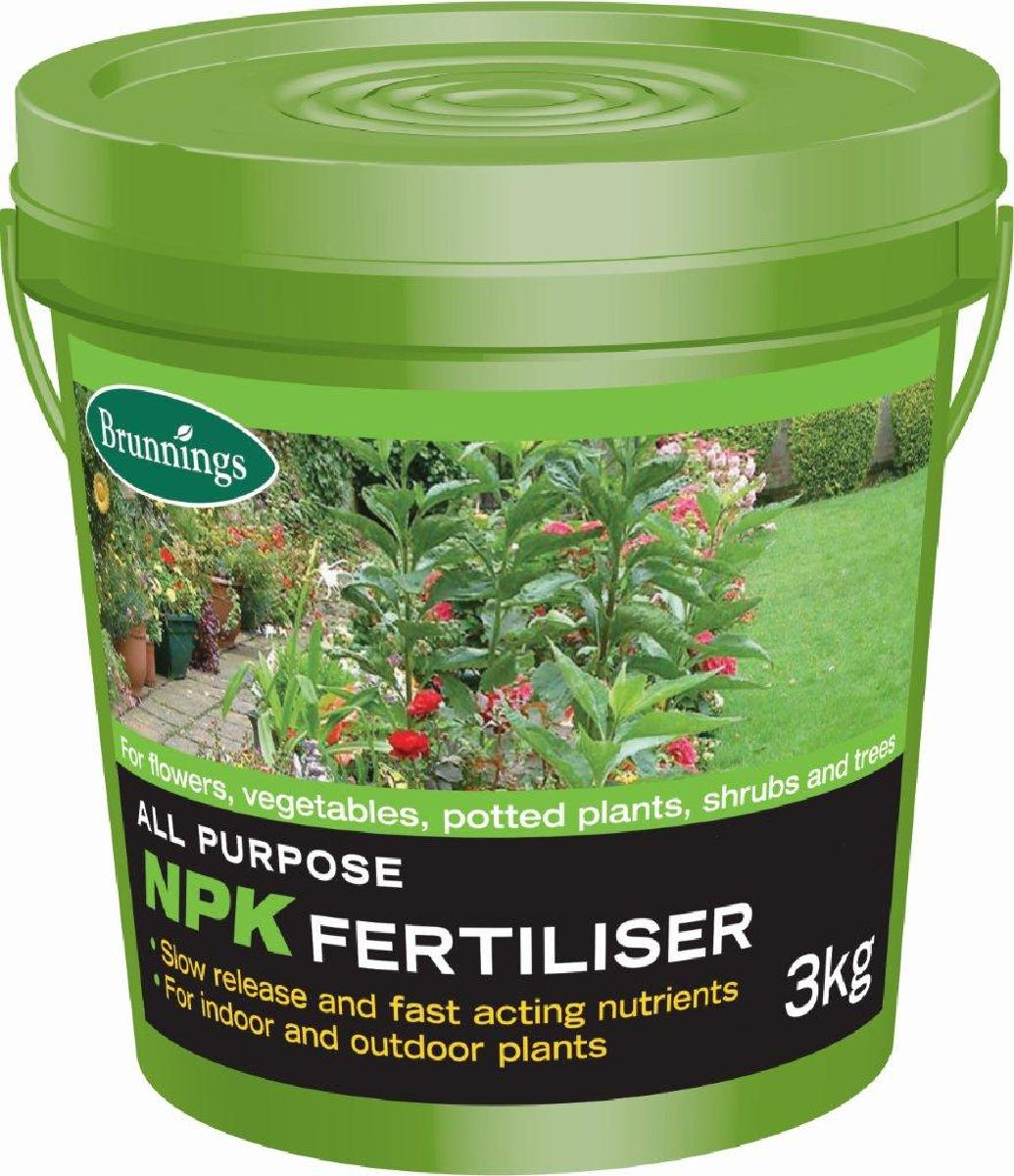 Brunnings NPK All Purpose Fertiliser 3kg