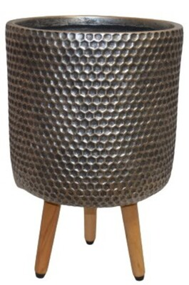 NC Lincoln Pot with Tripod - Silver & Gold - Large
