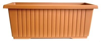Zarif Rectangular Trough - Terracotta 870mm