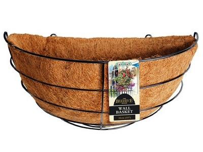 Gardman Beehive Hanging Basket - 35cm - Black